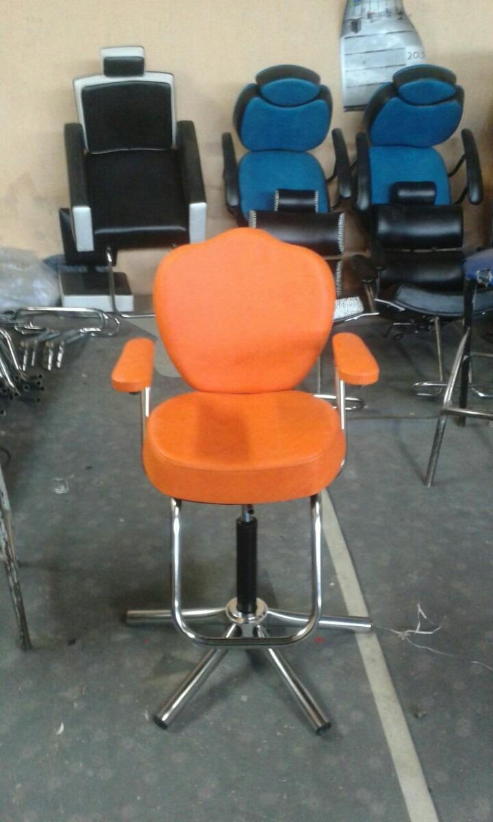 Muebles Peluqueria Salon Belleza Sillas De Corte Para Niños  $ 160