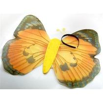 Disfraz Mariposa - Amarillo Lace Disfraces Alas Set Nuevo