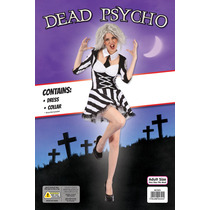 Zombie Costume - Adulto Mujeres Rayado Dead Psico Halloween