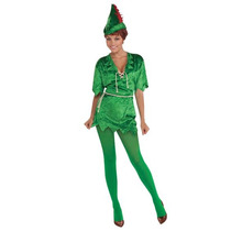 Peter Pan Disfraz - Señoras Para Mujer Verde Pixie Disfraces