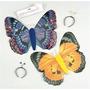 Disfraz Mariposa - Azul De Encaje Del Vestido De Lujo Alas E