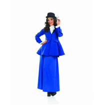 Disfraz Victoriano - Lady Mary Poppins Azul Xl: Ladies