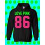 Buso Chompa Mujer Y Hombre Personalizado Ref : Love Pink 86