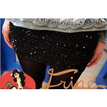Falda Evento Noche Coctel Grados Lentejuelas Elegante