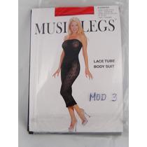 Lenceria Sexy Music Legs Body Stocking Malla