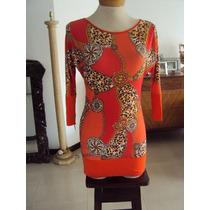 Vestido Estampado Corto, Bellos Colores
