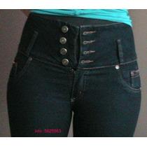 Jeans Para Dama Levanta Cola Talle Alto