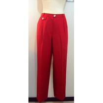 Pantalon Rojo-clasico-liz Clairborne