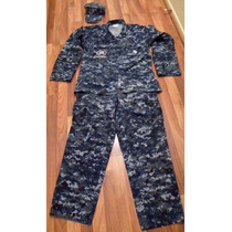 Uniforme Camuflado Militar Us Army Navy Blue Digital Mediun