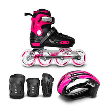 Patines Canariam Free Runner + Casco + Kit De Proteccion