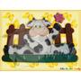 Perchero Vaca Florecita Arte Country