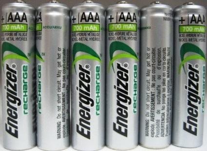 Pilas recargables energizer aaa precio