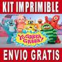 Kit Imprimible Yo Gabba Gabba Diseña Invitaciones Y Tarjetas