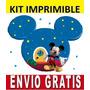Kit Imprimible La Casa D Mickey Diseña Invitaciones Tarjetas