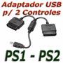 Convertidor Adaptador Usb Doble Control Ps1 Ps2 A Ps3 Pc