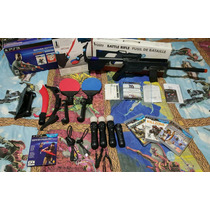 Move Ps3 Rifle + 4 Controles + 3 Juegos + Camara Cambio Ps4