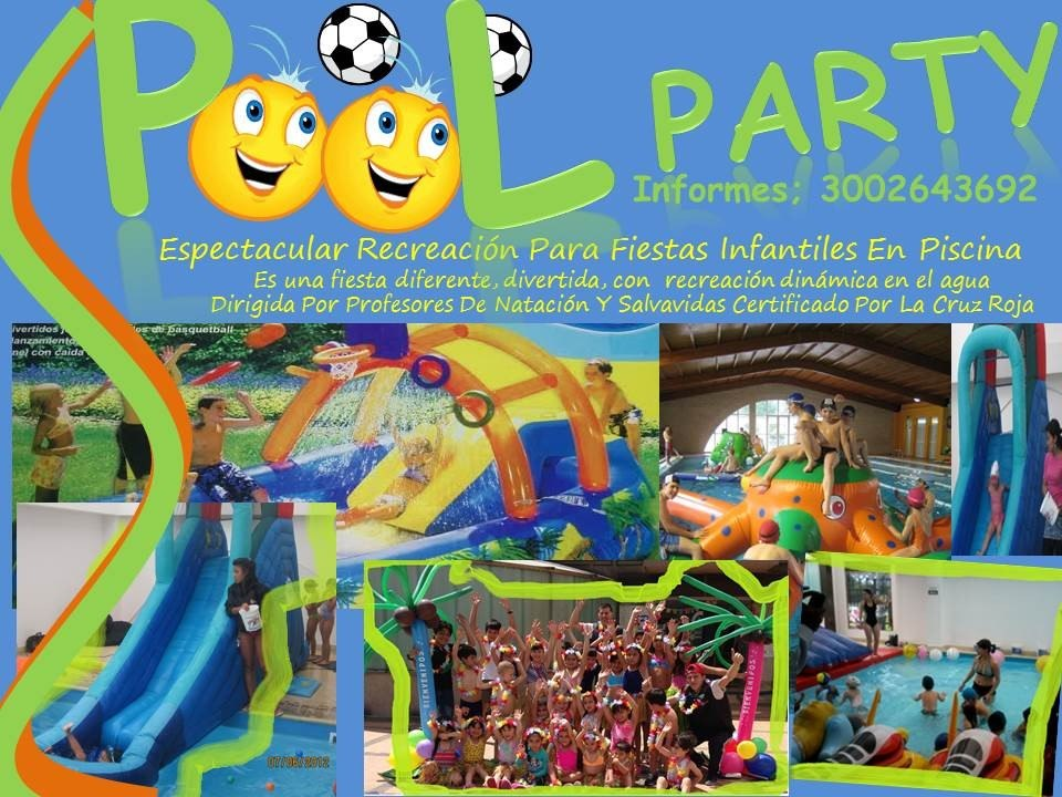 Fiestas y eventos infantiles bogota recreacion infantil for Fiesta de piscina