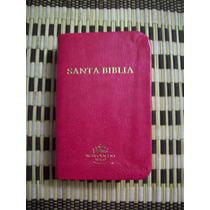 Biblia Mini Bolsillo Rvr60, Imitacion Piel Rosada, Canto Dor