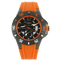 Reloj Guess Hombres Magnum Manilla Naranja W0034g8 Super