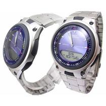 Reloj Casio Aw 80 Telememo Iluminator 100% Original Acero+ob