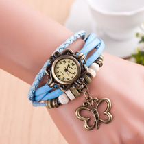 Reloj Para Mujer En Cuero Vintage Surtidos Dijes
