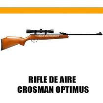 Rifle De Aire Crosman Optimus 5.5mm + Mira 4x32mm + Copas