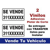 Vinilos Adhesivos De Sevende Con Tu Celular Ideal Autos/moto