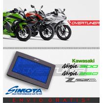 Filtro De Aire Simota Para Kawasaki Ninja 250 Ninja 300 Z250