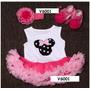 Set Vestido Tutu Minnie Para Bebes Y Niñas, Ropa