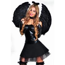 Disfraz De Mujer Angel Negro- Envio Gratis