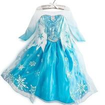 Disfraz Vestido Disney Frozen De Elsa