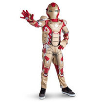 Disfraz Iron Man 3 Disney Marvel, Talla 7-8, Entrega Inmedia