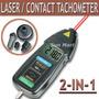Tacometro Digital Laser Y Por Contacto Con Accesorios