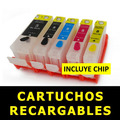 Cartuchos Canon Recargables Ip 4200 Ip 4600 Mp 510 Mp 560