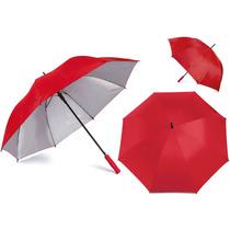 Paraguas Golf Interior Plateado 27 Pulgadas-rojo