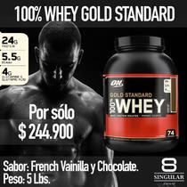 100% Whey Gold Standard 5lb+shaker+asesoria!!