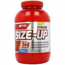 Size Up Muscle Mass 3lb Met Rx,proteina,chocolate