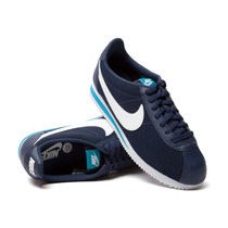 Tenis Nike Hombre Casual Azul Oscuro Classic Cortez Leather