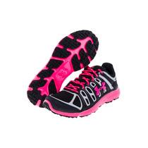 Zapatos Tenis Mujer Under Armour Micro G Negro-fucsia Promo