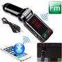 Transmisor Fm Bluetooth Doble Cargador Usb, Manos Libres