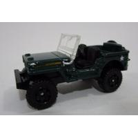 Jeep Willys Verde Militar 7 Cm Largo Metalico Matchbox