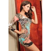 Precioso Vestido Estampado Asimétrico