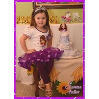 Vestido Niña Tutu Tutus Con Leggins Princesa Sofia 2015