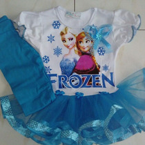 Vestido Niña Tutu Tutus Frozen Con Leggins