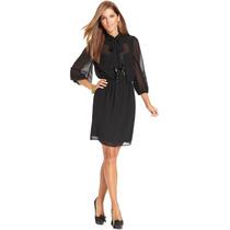 Espectacular Vestido Negro Jessica Simpson Talla 10