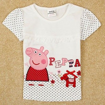 Blusa Para Niña Peppa Pig 5-6 Tienda Virtual Fvs