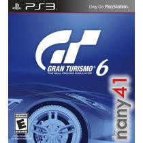 Juego Ps3 Gran Turismo 6 Playstation 3 Carros Carreras Gt6