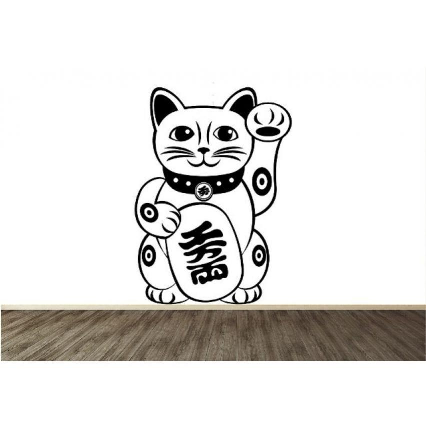 Vinilo decorativo creando vinilos gato japones for Comedor japones bogota