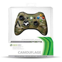 Original Microsoft Control Inalambrico Camuflado Xbox 360 Pc