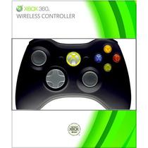 Xbox 360 Control Inalambrico Negro Nuevo Original Microsoft